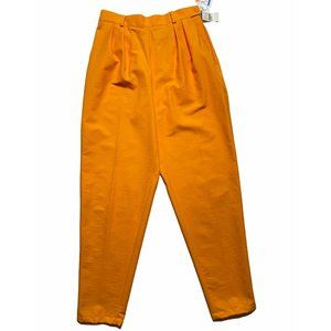 Vintage Bright Orange Ladies Pants Tapered Leg